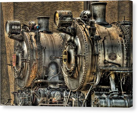 Train Conductor Canvas Print - Train - Engine - Brothers Forever by Mike Savad