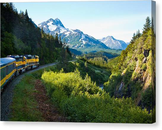 Train From The North Canvas Print
