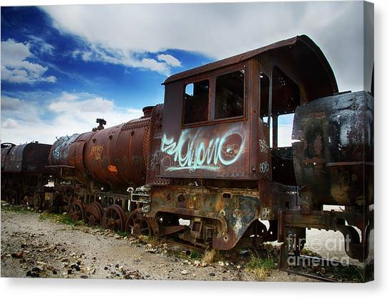Train Graveyard Uyuni Bolivia 16 Canvas Print