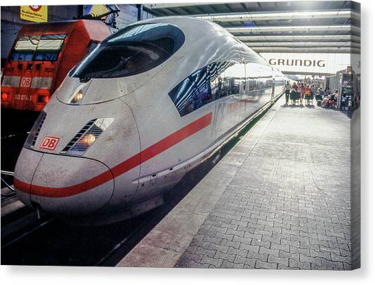 Bullet Trains Canvas Print - Train In Munich by Kevin Deal