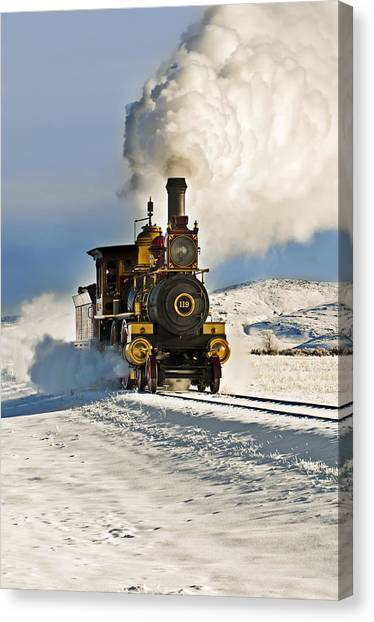 Train In Winter Canvas Print