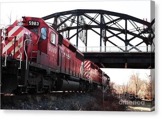 Train Canvas Print by John Rizzuto