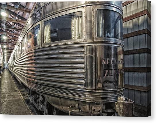 Thomas The Train Canvas Print - Train Of The Goddess Nebraska Zephyr End Car by Thomas Woolworth