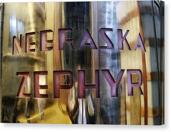 Thomas The Train Canvas Print - Train Of The Goddess Nebraska Zephyr Signage by Thomas Woolworth