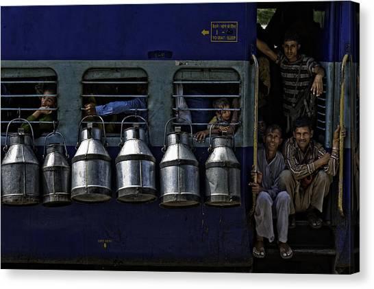 Milk Canvas Print - Train by Prateek Dubey