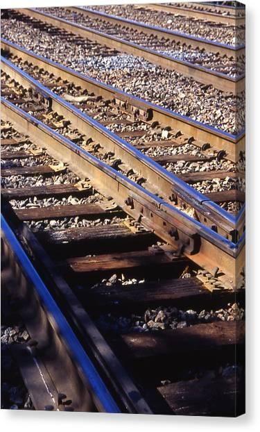 Train Rails Canvas Print by Randy Muir
