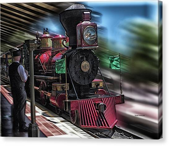 Steam Trains Canvas Print - Train Ride Magic Kingdom Mp by Thomas Woolworth