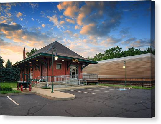 Ohio Valley Canvas Print - Train Station  by Emmanuel Panagiotakis