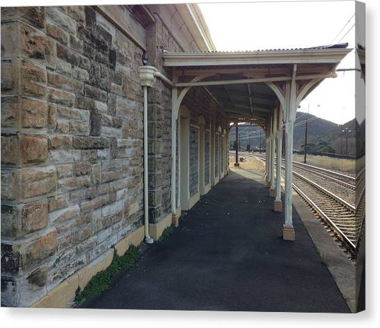 Warehouses Canvas Print - Train Station by Jackie Russo
