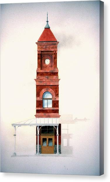 Train Station Tower Canvas Print