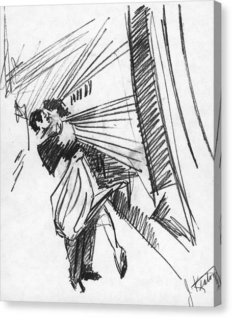 Train Canvas Print - Train Stop by John Keaton