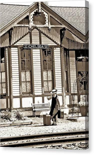 Train Stop Canvas Print by William Furguson