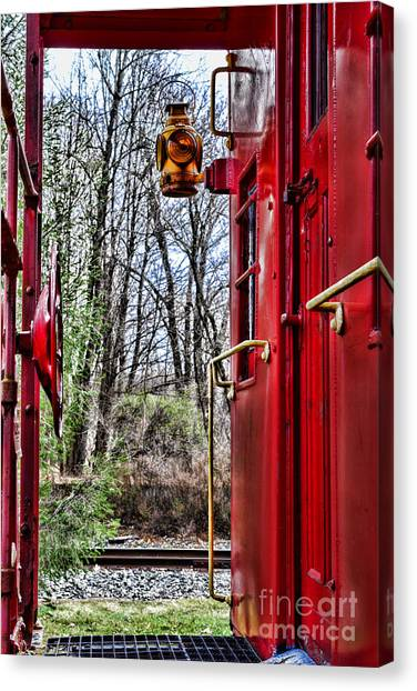 Train Conductor Canvas Print - Train - The Red Caboose by Paul Ward