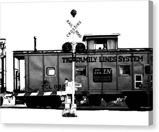 Train Tryptic C Of C Canvas Print by Richard Gerken
