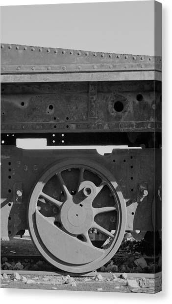 Train Wheel Canvas Print by Marcus Best