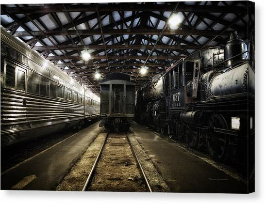 Thomas The Train Canvas Print - Trains 3 Foregone Work Horses At Rest by Thomas Woolworth