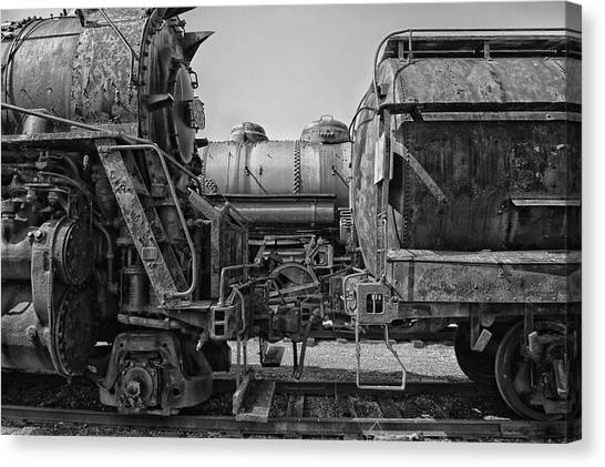 Thomas The Train Canvas Print - Trains Ancient Iron Bw by Thomas Woolworth