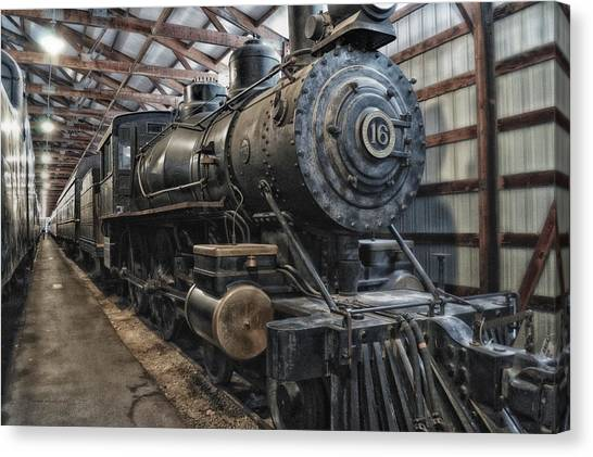 Thomas The Train Canvas Print - Trains Ancient Iron Engine 16 by Thomas Woolworth