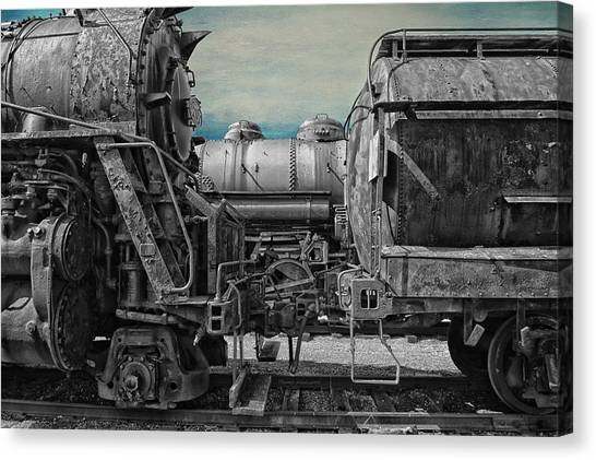 Thomas The Train Canvas Print - Trains Ancient Iron Sc by Thomas Woolworth