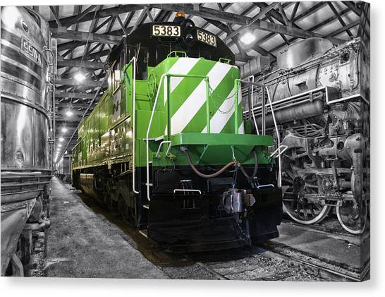 Thomas The Train Canvas Print - Trains Burlington Northern Locomotive 5383 Sc by Thomas Woolworth