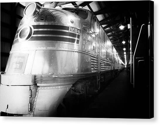 Thomas The Train Canvas Print - Trains Emd E5 Diesel Locomotive Bw by Thomas Woolworth