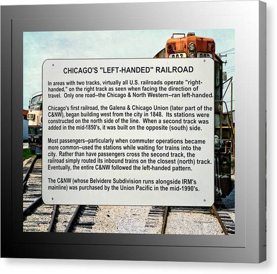 Thomas The Train Canvas Print - Trains Left Handed Railroad Signage by Thomas Woolworth