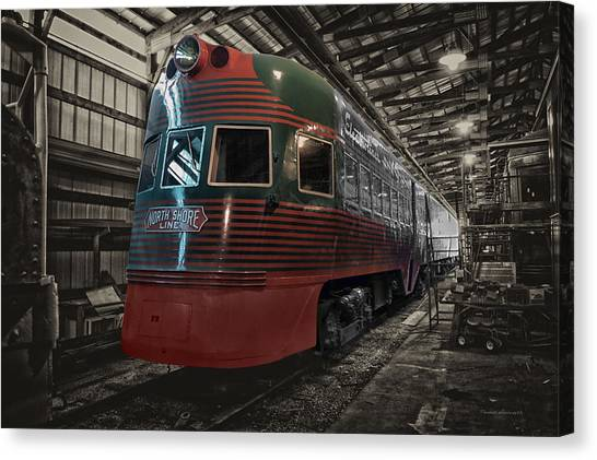 Thomas The Train Canvas Print - Trains North Shore Line Electroliner Sc by Thomas Woolworth