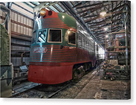 Thomas The Train Canvas Print - Trains North Shore Line Electroliner by Thomas Woolworth