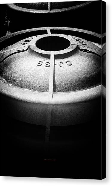 Thomas The Train Canvas Print - Trains Rolling Iron Bw by Thomas Woolworth