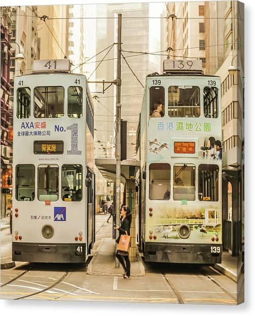 Hongkong Canvas Print - Tram by Hyuntae Kim