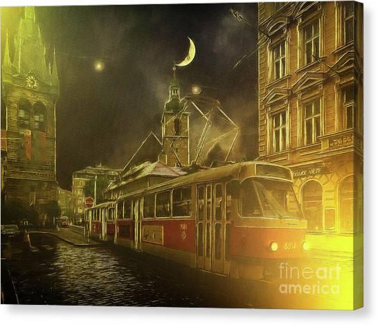 Tramatic - Prague Street Scene Canvas Print