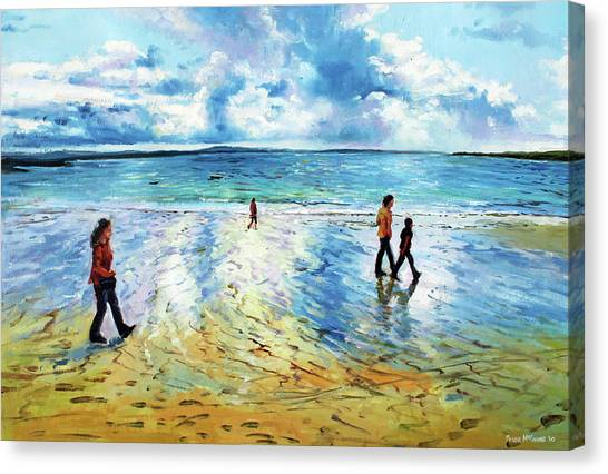 Waterford Canvas Print - Tramore Beach Waterford by Conor McGuire