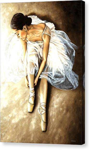 Ballerina Canvas Print - Tranquil Preparation by Richard Young