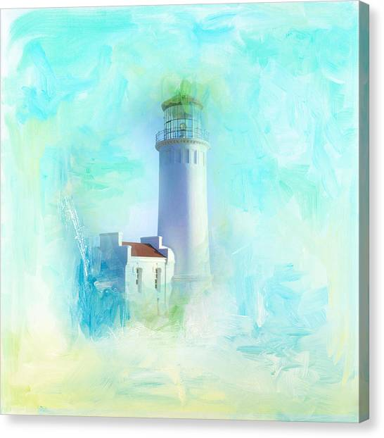 Canvas Print - Tranquil Shores - Lighthouse by Amanda Lakey