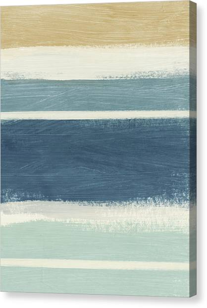 Soothing Canvas Print - Tranquil Stripes- Art By Linda Woods by Linda Woods