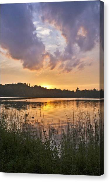 Tranquil Sunset On The Lake Canvas Print