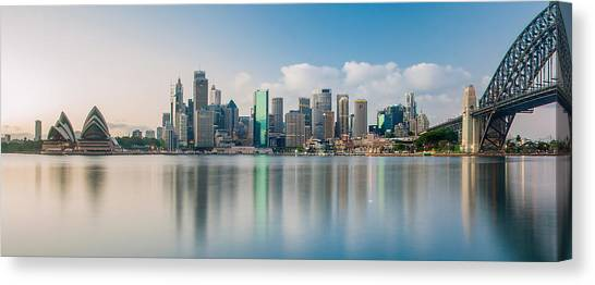 Sydney Harbour Canvas Print - Tranquil Sydney Mornings by Az Jackson