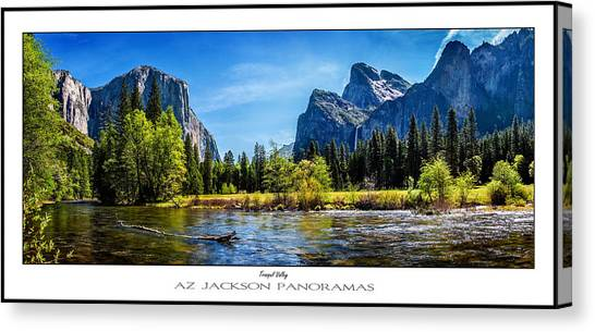 Ansel Adams Canvas Print - Tranquil Valley Poster Print by Az Jackson