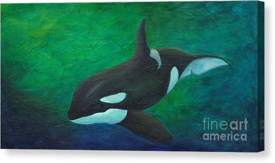 Canvas Print featuring the painting Tranquile Force by Phyllis Howard