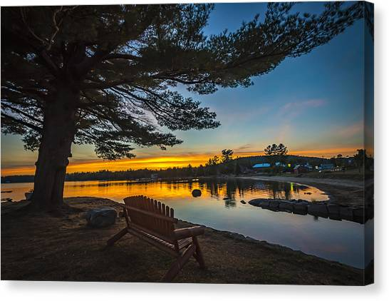 Tranquility At Sunset Canvas Print