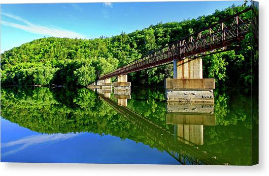 Tranquility At The James River Footbridge Canvas Print