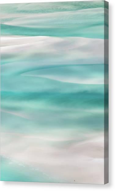 White Sand Canvas Print - Tranquil Turmoil by Az Jackson