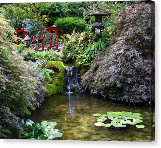 Tranquility In A Japanese Garden Canvas Print