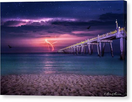 Tranquility- Pensacola Beach Canvas Print by Brent Shavnore