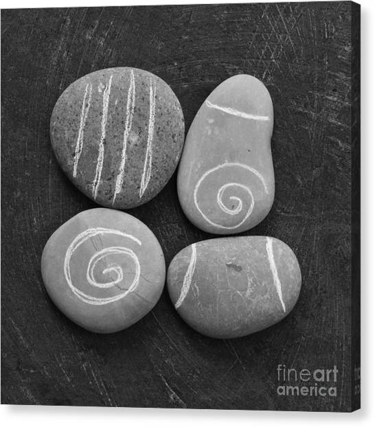 Meditation Canvas Print - Tranquility Stones by Linda Woods