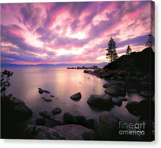Mountain Sunset Canvas Print - Tranquility  by Vance Fox