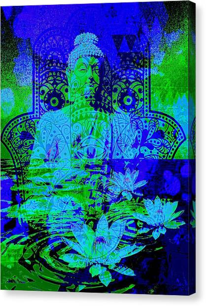 Om Canvas Print - Tranquility Zen by Brian Broadway
