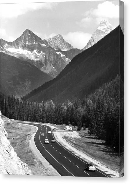 British Columbia Canvas Print - Trans-canada Highway by Underwood Archives