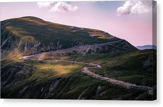 Transalpina Road - Romania - Travel Photography Canvas Print by Giuseppe Milo