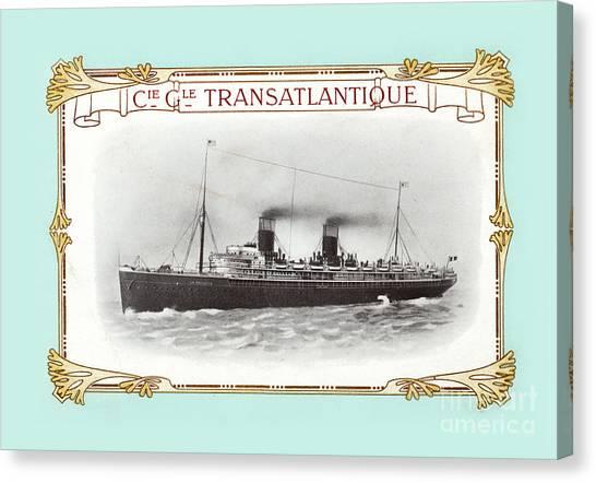 Cruise Ships Canvas Print - Transatlantique by Delphimages Photo Creations